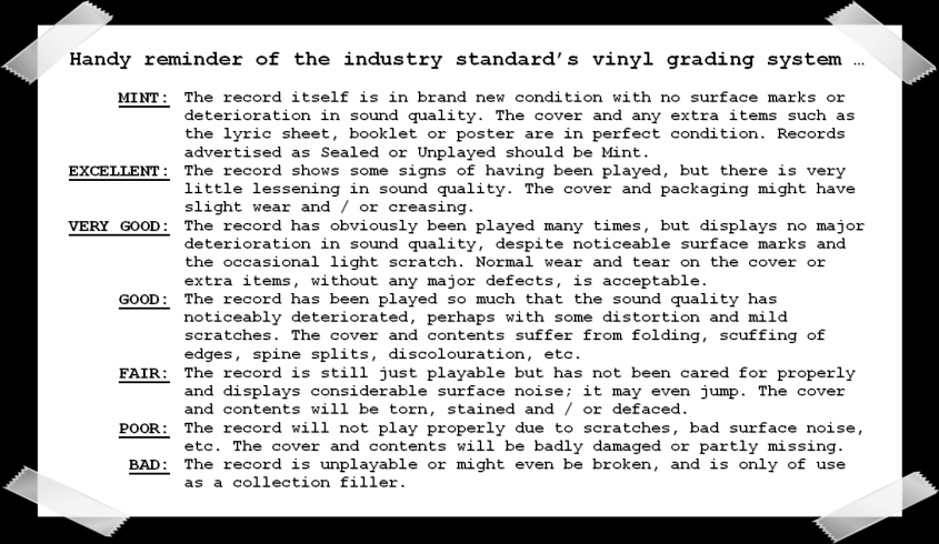 Record Collector Grading System